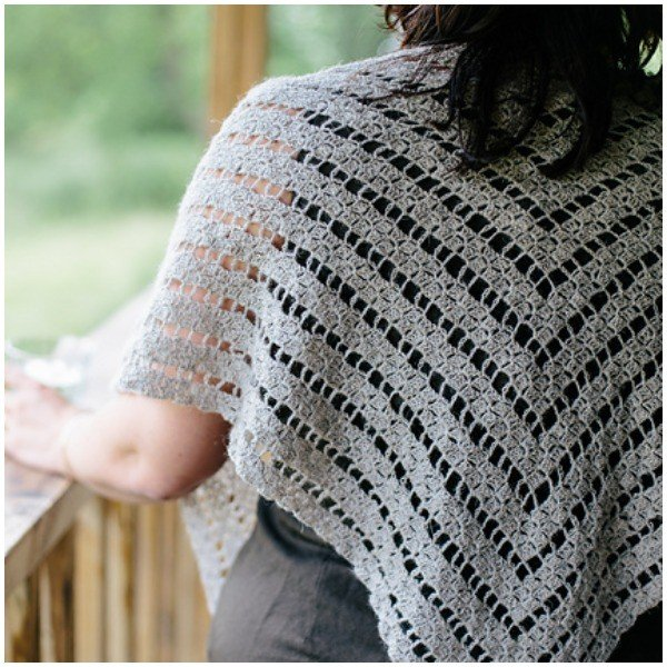 Abberley Shawl by Joanne Scarce - Blacker Yarns