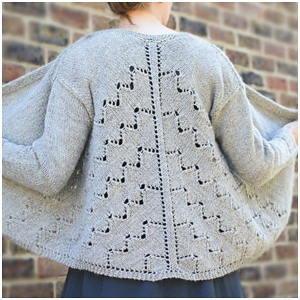Angelus Novus Cardigan by Renee Callahan - Blacker Yarns