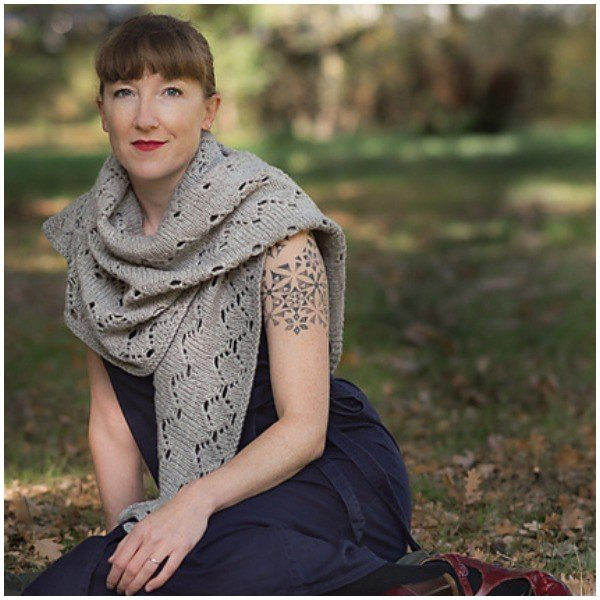 Angelus Novus Shawl by Renee Callahan - Blacker Yarns