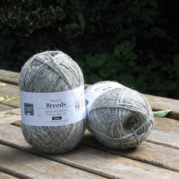 Aran Texel Grey Yarn - Blacker Yarns