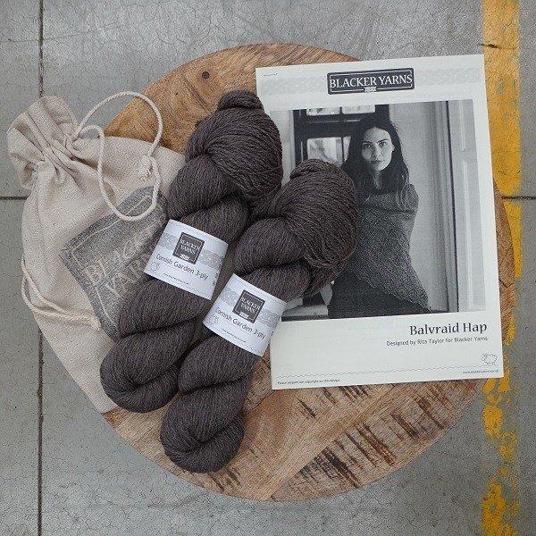 Balvraid Hap Project Kit Grey - Blacker Yarns