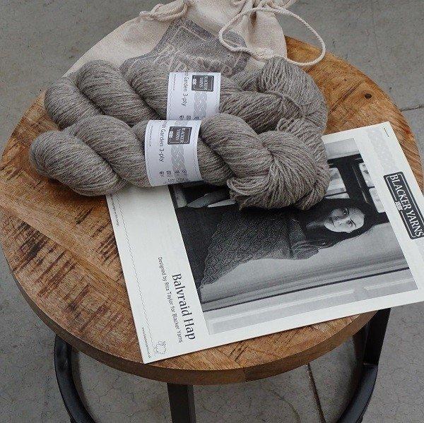 Balvraid Hap Project Kit Natural - Blacker Yarns