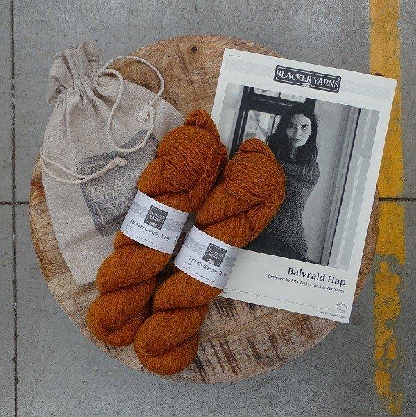 Balvraid Hap Project Kit Orange - Blacker Yarns