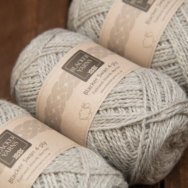 Blacker Swan natural ivory Pale Maiden 4-ply knitting yarn