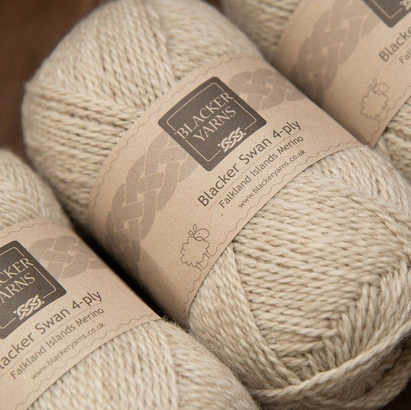 Blacker Swan natural pale fawn Sand 4-ply knitting yarn