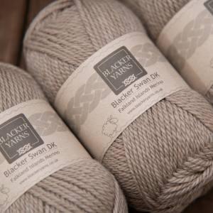 Blacker Swan over-dyed Cinnamon Grass fawn DK knitting yarn