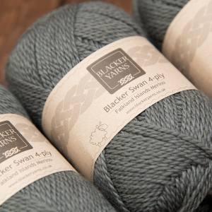 Blacker Yarns Blacker Swan over-dyed Dolphin dark grey 4-ply knitting yarn
