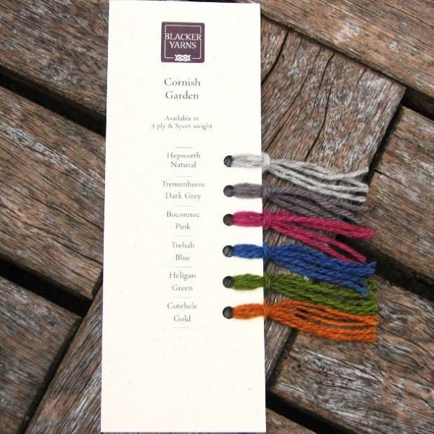 Blacker Yarns Cornish Garnden Colour Card