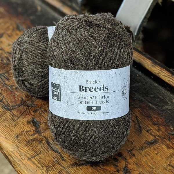 Blacker Yarns Pure Shetland with Jacob DK undyed knitting yarn