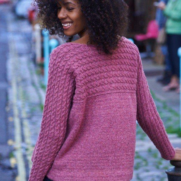 Bowmont Jumper Back Pink - Blacker Yarns