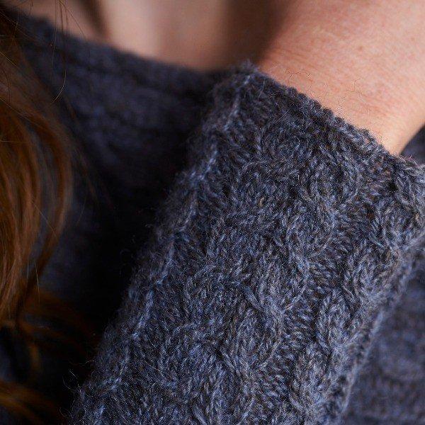 Bowmont Jumper Sleeve Closeup - Blacker Yarns
