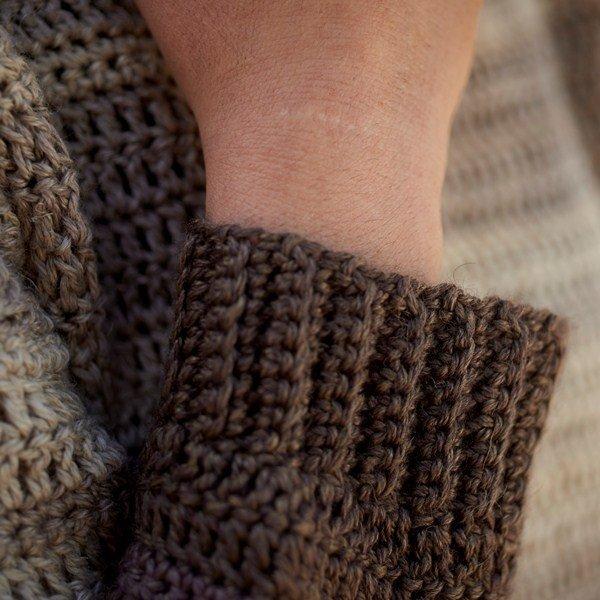 Cawsand Bay Jumper Crochet pattern Sleeve Detail - Blacker Yarns
