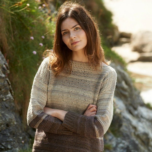 Cawsand Bay Jumper Crochet pattern from Blacker Yarns