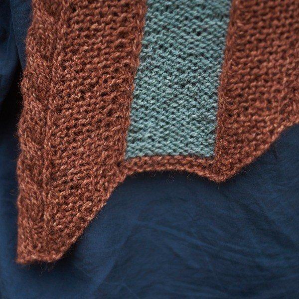 Coppersmith Scarf Detail - Blacker Yarns