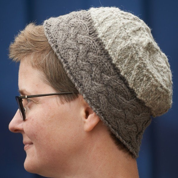 Cornish Garden Cable Hat in 2 colours - Blacker Yarns