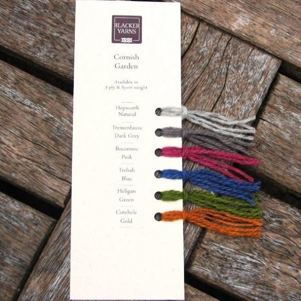 Cornish Garden Swatch - Blacker Yarns