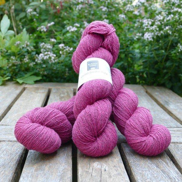 Cornish Garden dyed Boconnoc pink 3-ply yarn