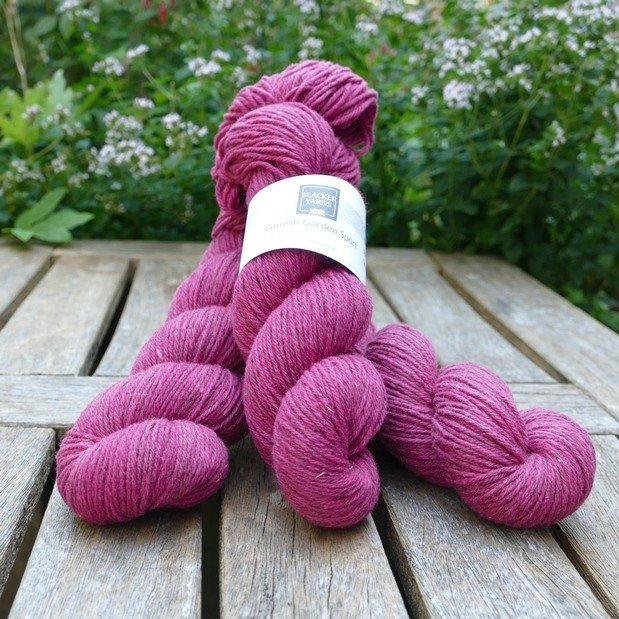 Cornish Garden dyed Boconnoc pink Sport yarn