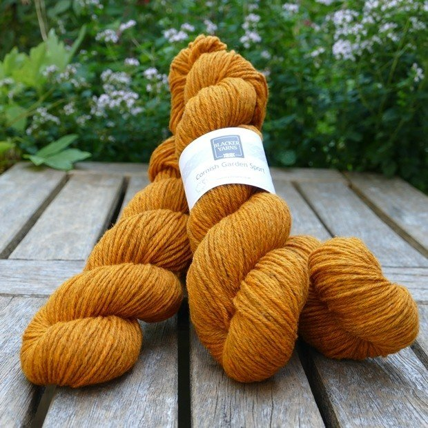 Cornish Garden dyed Cotehele golden orange Sport yarn