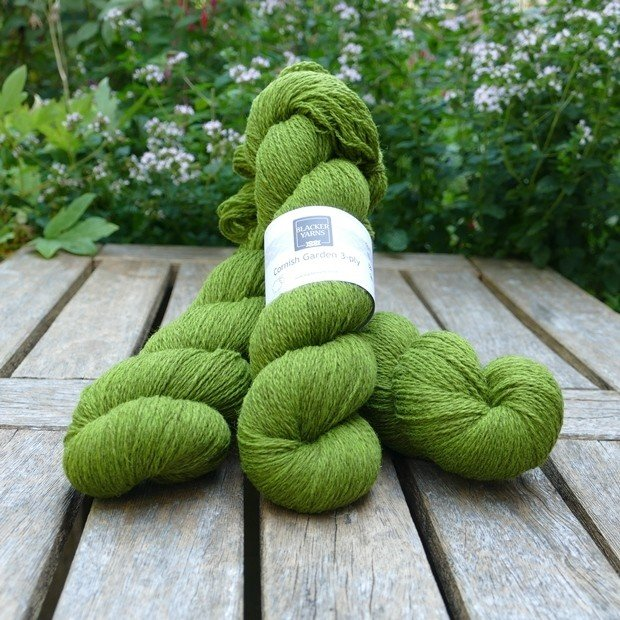 Cornish Garden dyed Heligan green 3-ply yarn