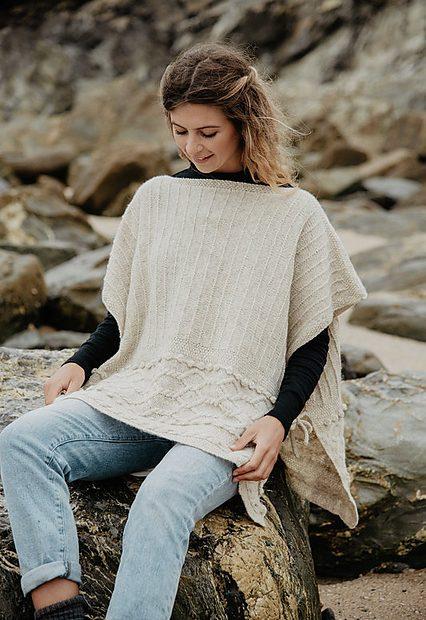 Cove Poncho Blasker Yarns Knitting Pattern 1 - Blacker Yarns