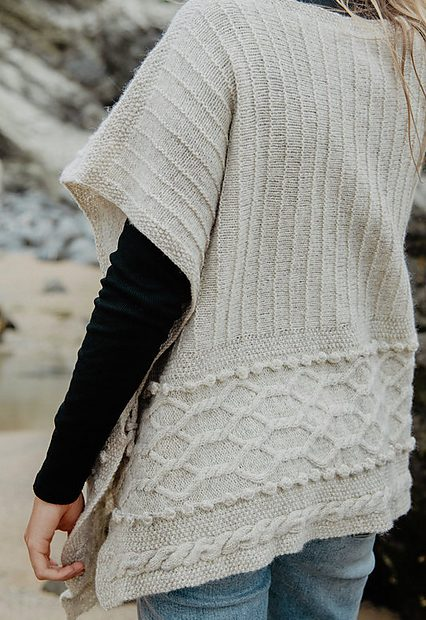 Cove Poncho Blasker Yarns Knitting Pattern 6 - Blacker Yarns