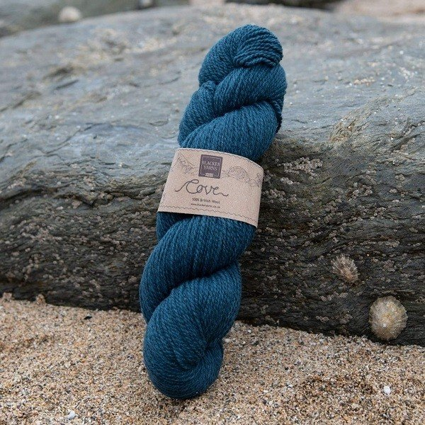 Cove over-dyed Dulas Mor dark turquoise 4-ply knitting yarn