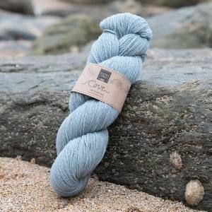 Cove over-dyed Ebron pale blue 4-ply knitting yarn
