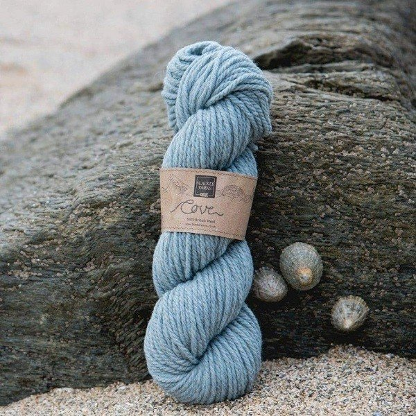 Cove over-dyed Ebron pale blue Chunky knitting yarn