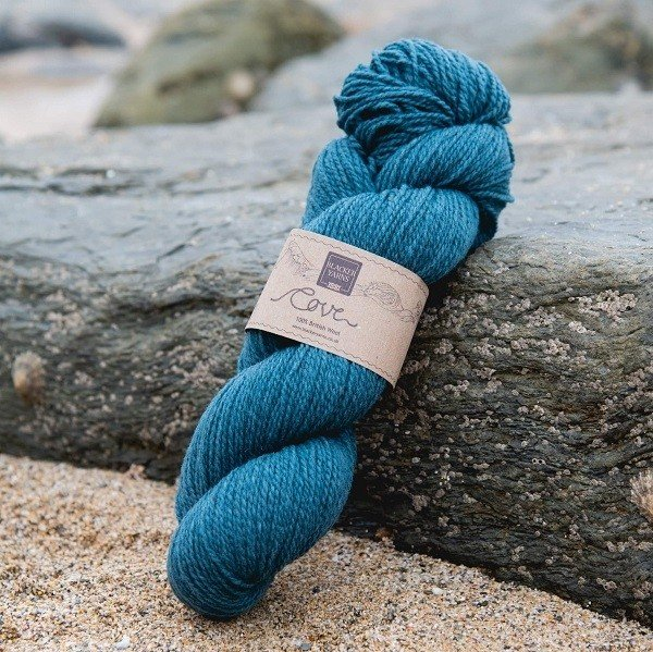Cove over-dyed Mordon pale turquoise 4-ply knitting yarn