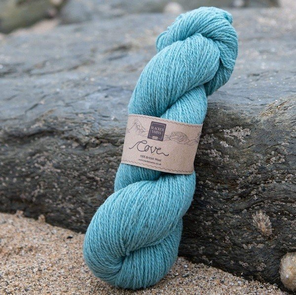 Cove over-dyed Steren teal 4-ply knitting yarn