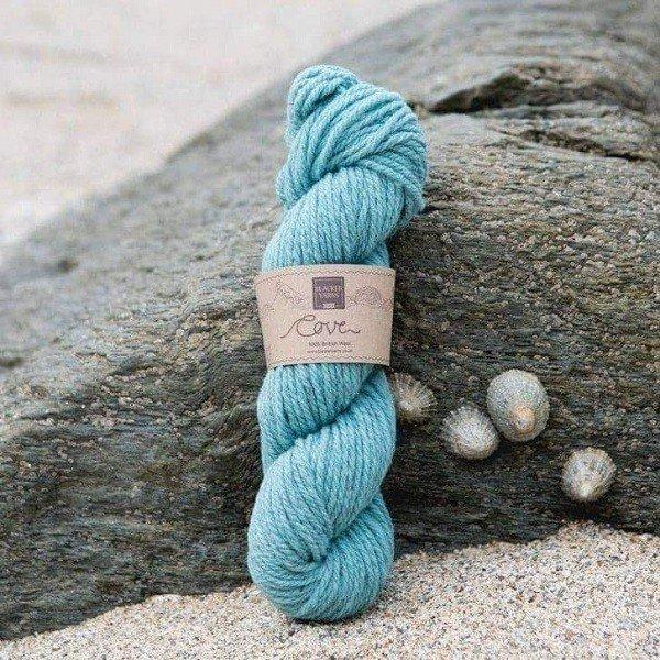 Cove over dyed Steren teal Chunky knitting yarn - Blacker Yarns