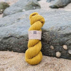 Cove over-dyed Towan deep gold 4-ply knitting yarn