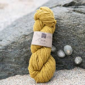 Cove over-dyed Towan deep gold Chunky knitting yarn