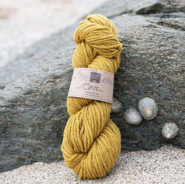 Cove over-dyed Towan deep gold Chunky knitting yarn