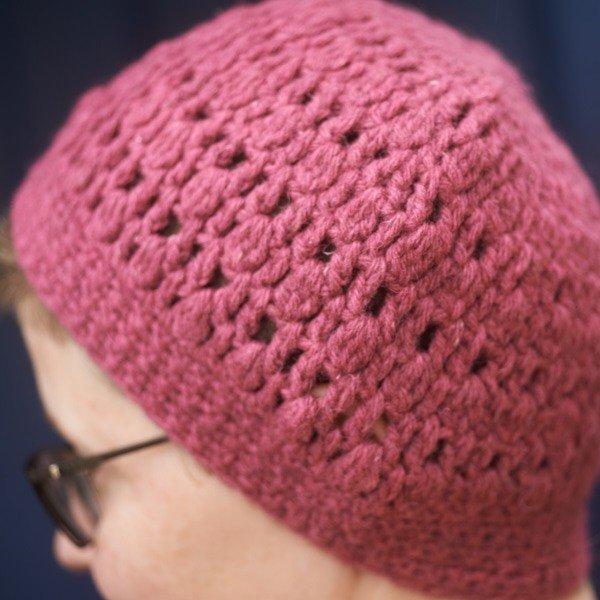 Crochet Pull on Hat Close Up - Blacker Yarns