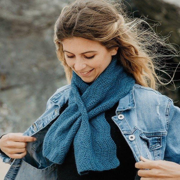 Crochet Sea Scarf - Blacker Yarns