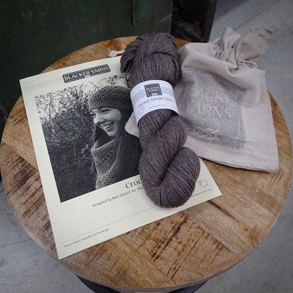 Crochet pull on hat Project Kit4 - Blacker Yarns