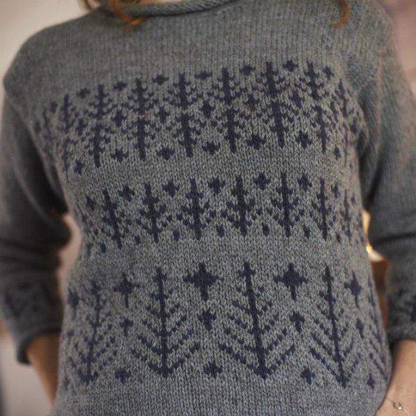 Frost and Fir Pullover Pattern - Blacker Yarns