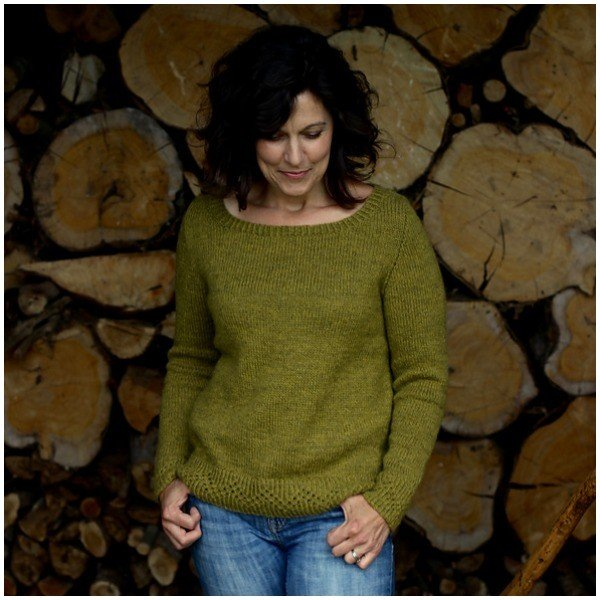 Gingerbread Sweater by Libby Johnson - Blacker Yarns