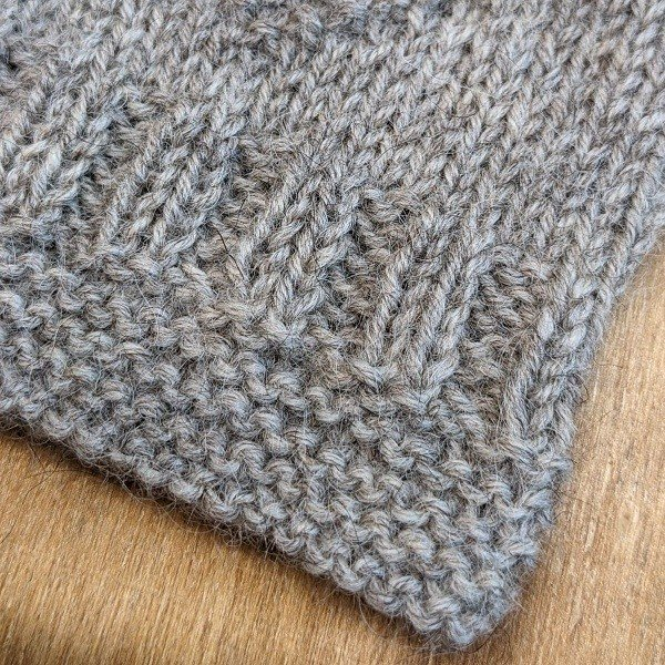 Guernsey Fingerless Mitts and Phone Cover Project Kit Close Up - Blacker Yarns