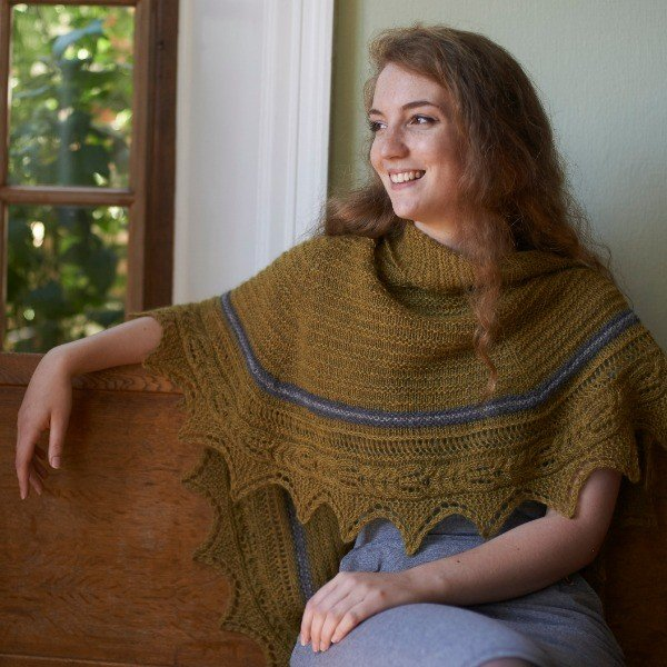 Gwindra Shawl Blacker Yarns Free Pattern