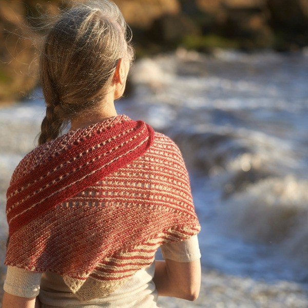 Heartland Cliff Shawl St Kilda Laceweight