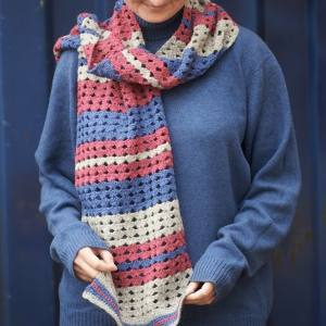 Heather and rock scarf