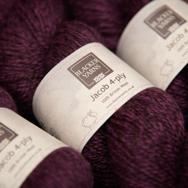 Jacob 4ply granite purple - Blacker Yarns