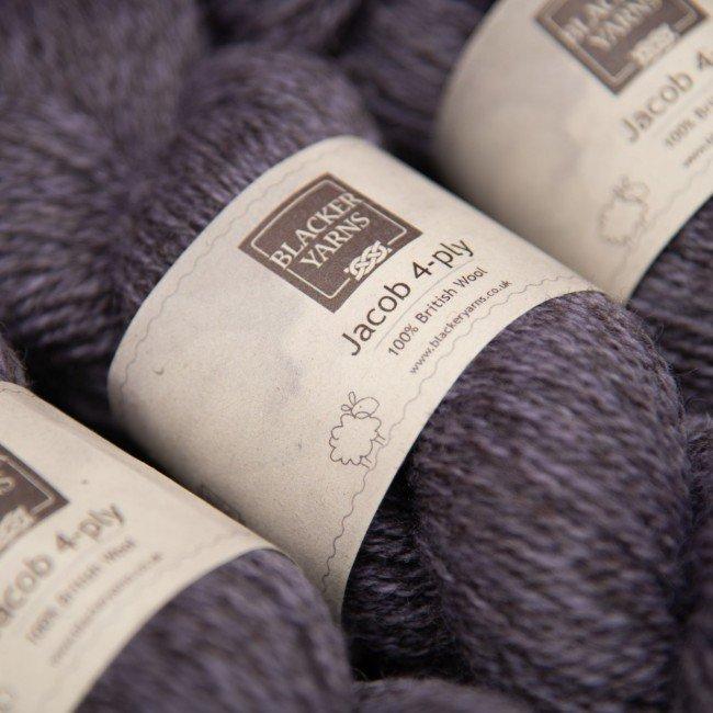 Jacob 4ply marlstone purple - Blacker Yarns