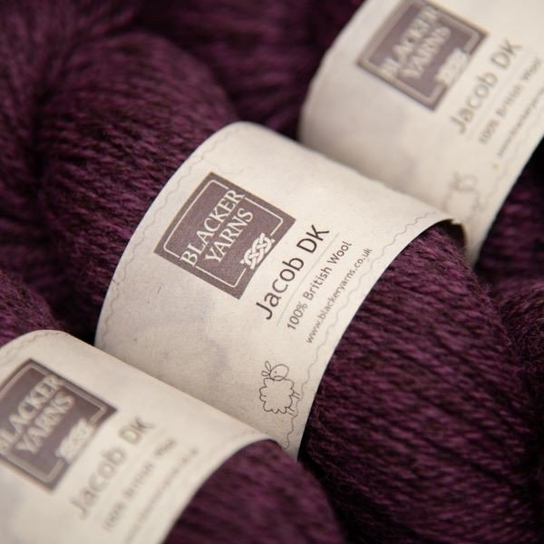 Jacob dk granite purple - Blacker Yarns
