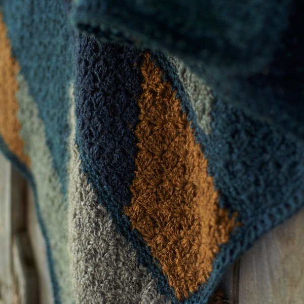 Lillerys Cove Blanket Closeup - Blacker Yarns