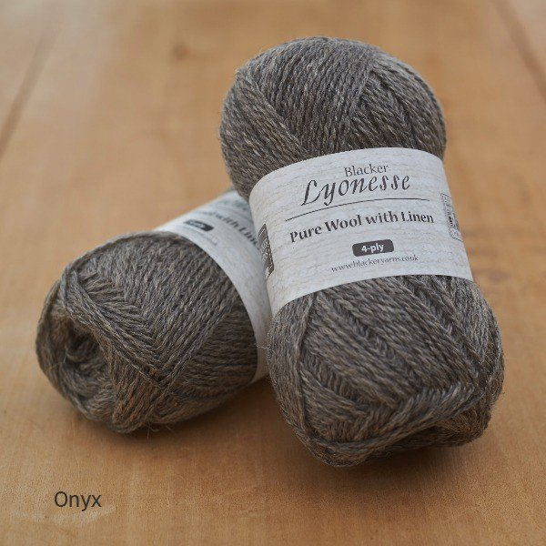Lyonesse Onyx Grey 4 Ply - Blacker Yarns