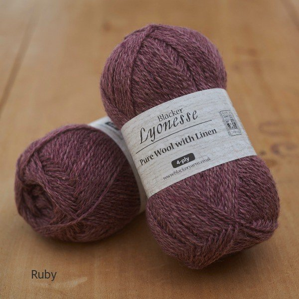 Lyonesse Ruby Plum 4 Ply - Blacker Yarns